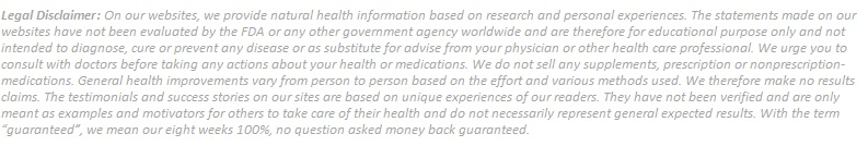 Legal Disclaimer Blue Heron Health News